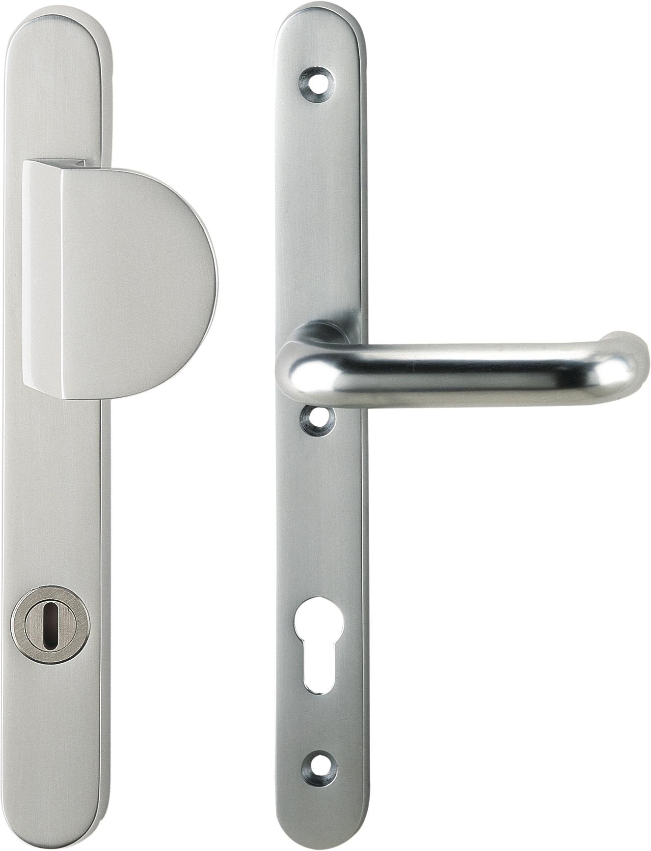 Schutzbeschlag mit Zylinderabdeckung - Griffplatte/U-Form Drücker ...