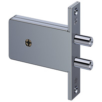 Mortise lock with cross profile